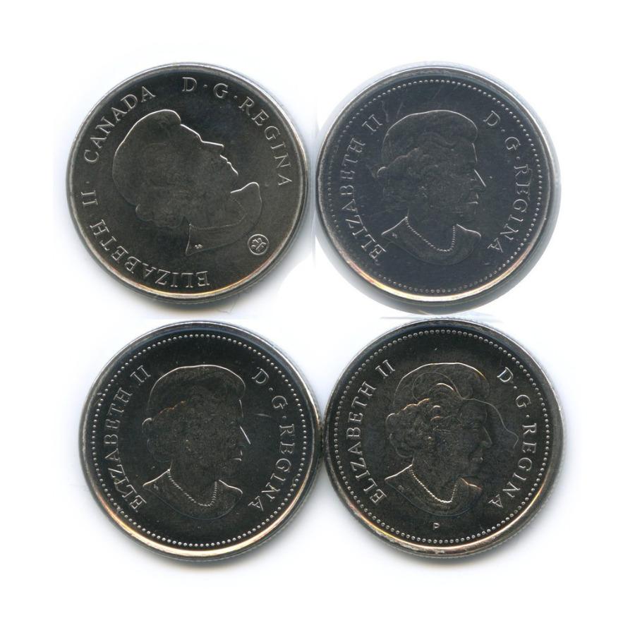 Набор юбилейных монет 25 центов (квотер), 1 монета взапайке (Канада)