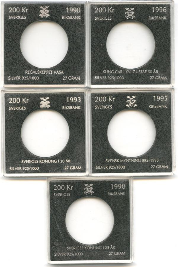 Набор футляров для монет «200 крон, Швеция» (Швеция)