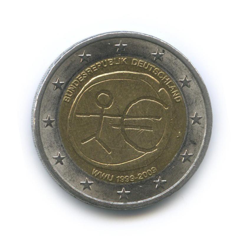 2 евро — 10-летие монетарной политики ЕС (EMU) ивведения евро 2009 года J (Германия)