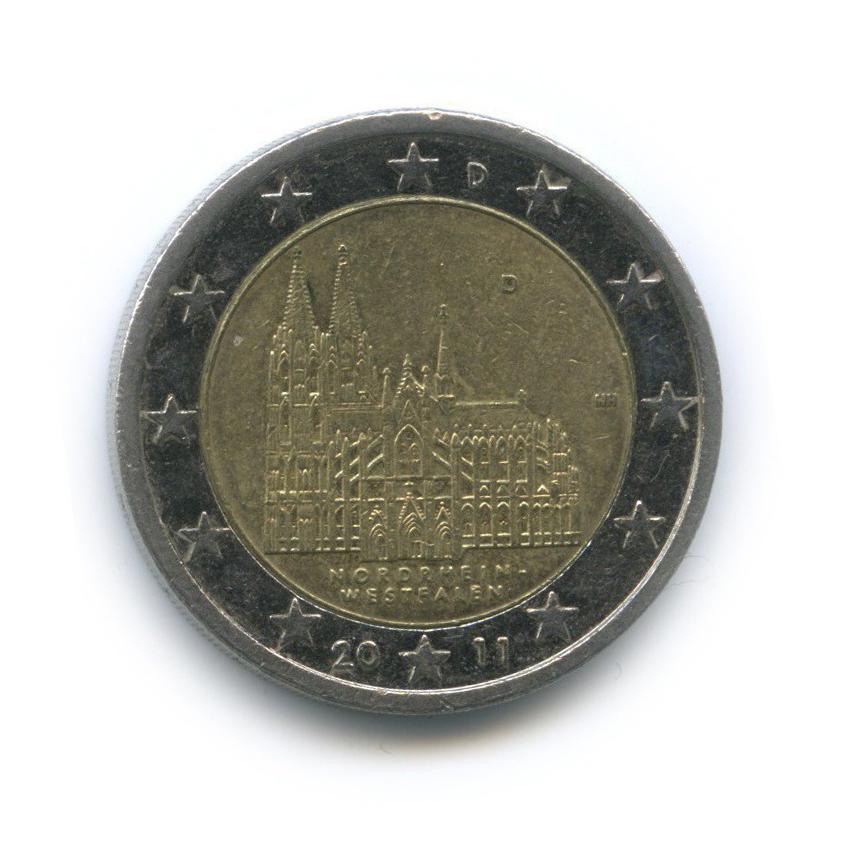 2 евро — Федеральные земли Германии - Кёльнский собор, Северный Рейн — Вестфалия 2011 года D (Германия)