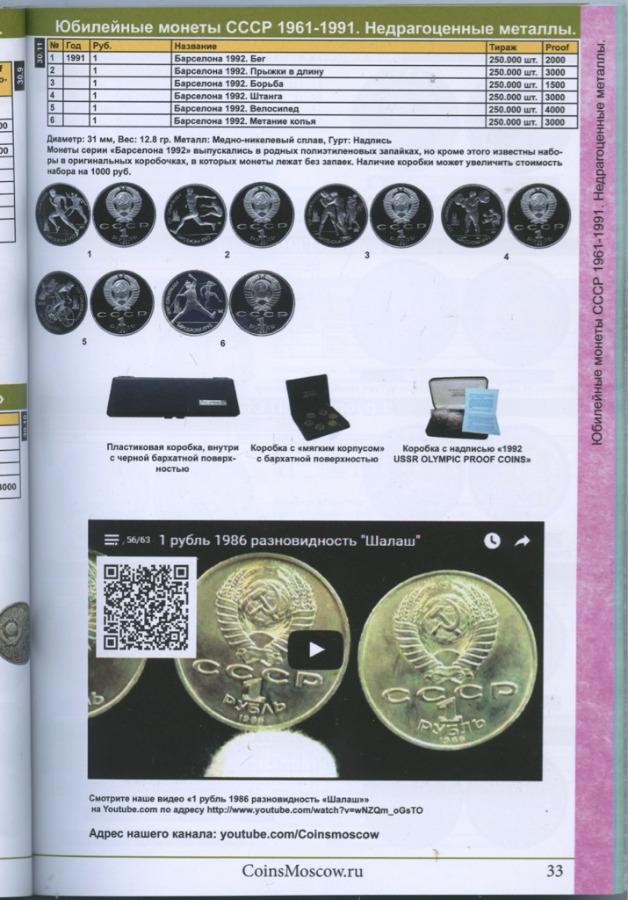 Каталог монет СССР иРоссии 1918-2018 годов (116 стр.) 2016 года (Россия)