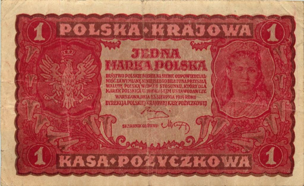 1 марка 1919 года (Польша)