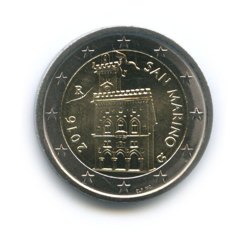 2 евро 2016 года (Сан-Марино)
