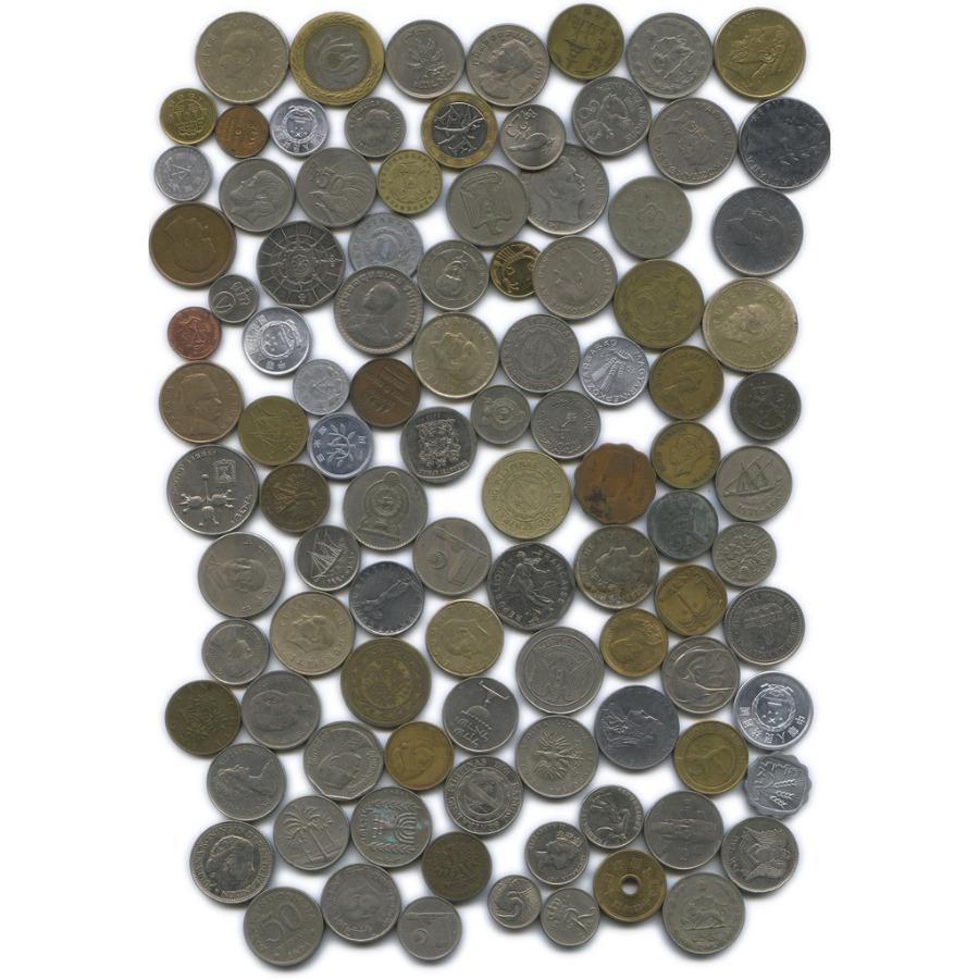 Набор монет (разные страны), 100 шт