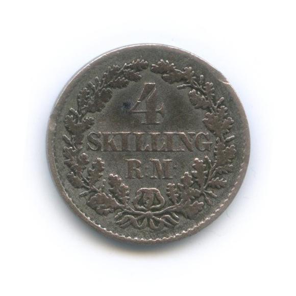 4 скиллинга - Фридрих VII 1854 года (Дания)