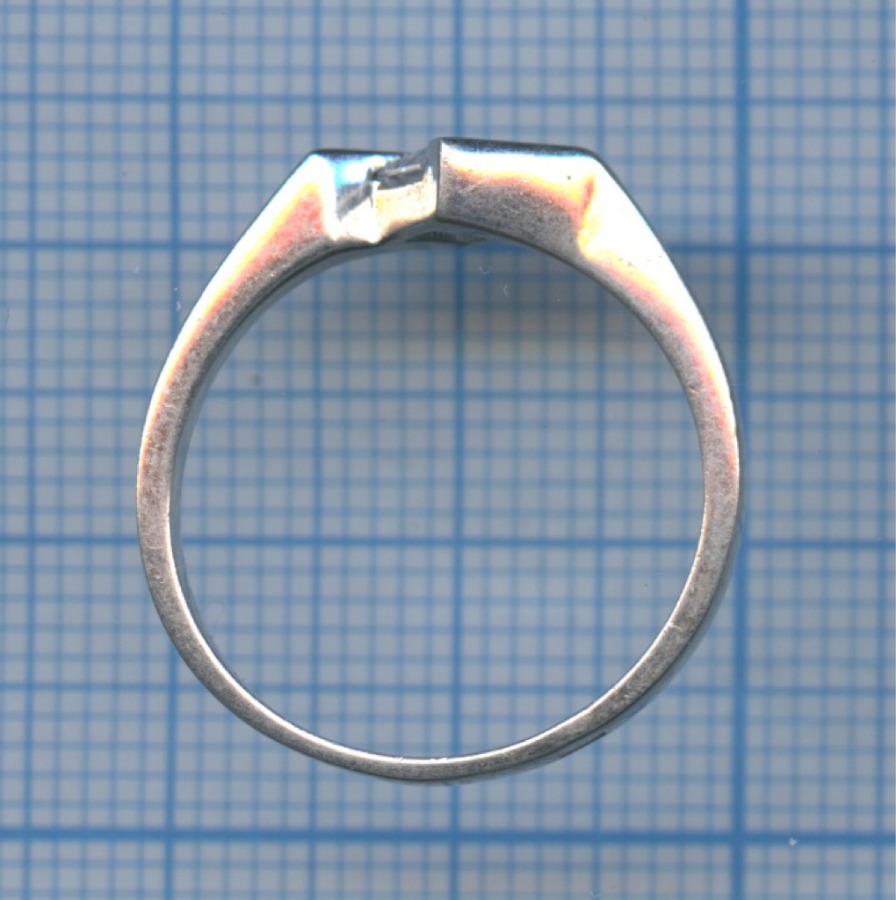 Кольцо (серебро 925 пробы, сфианитом)