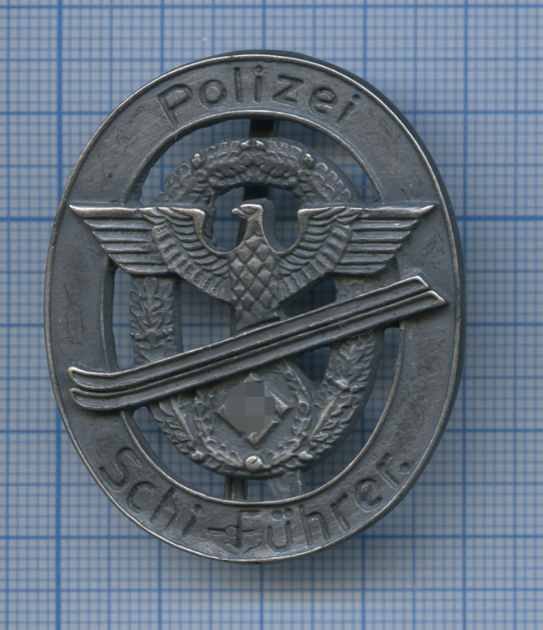 Знак «Polizei Schi-Führer» (копия) (Германия (Третий рейх))