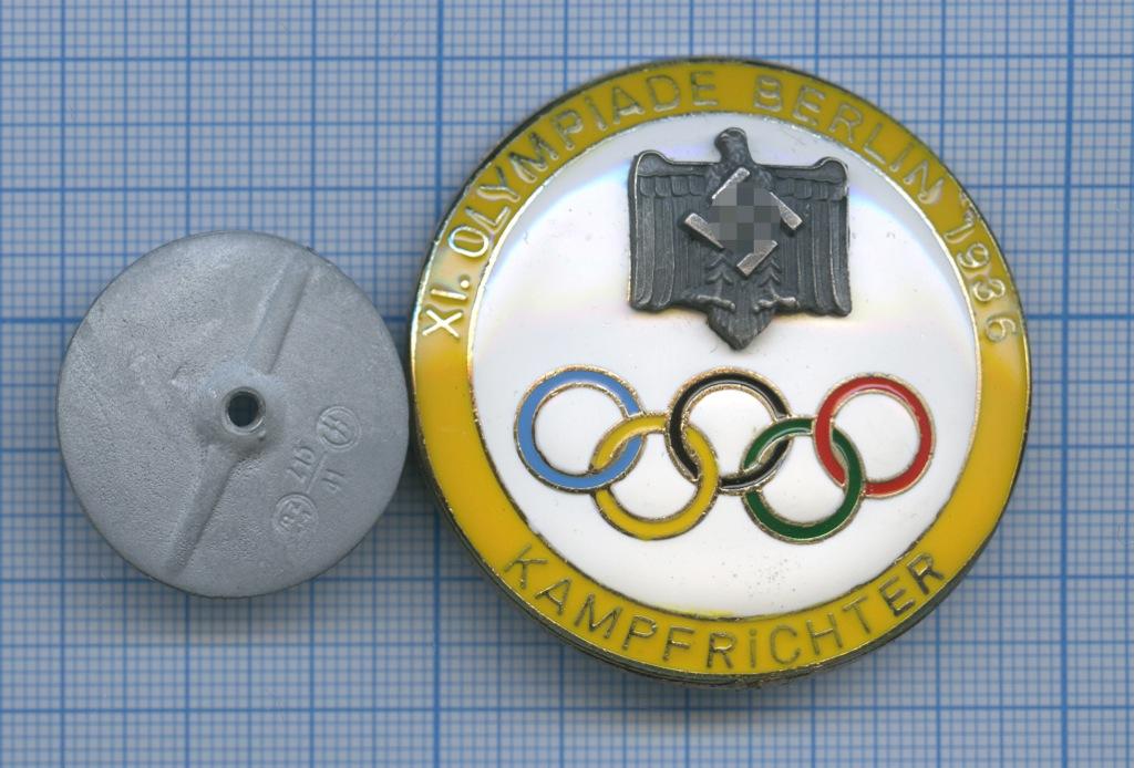 Знак «Олимпийские игры, Берлин 1936» (копия) (Германия (Третий рейх))