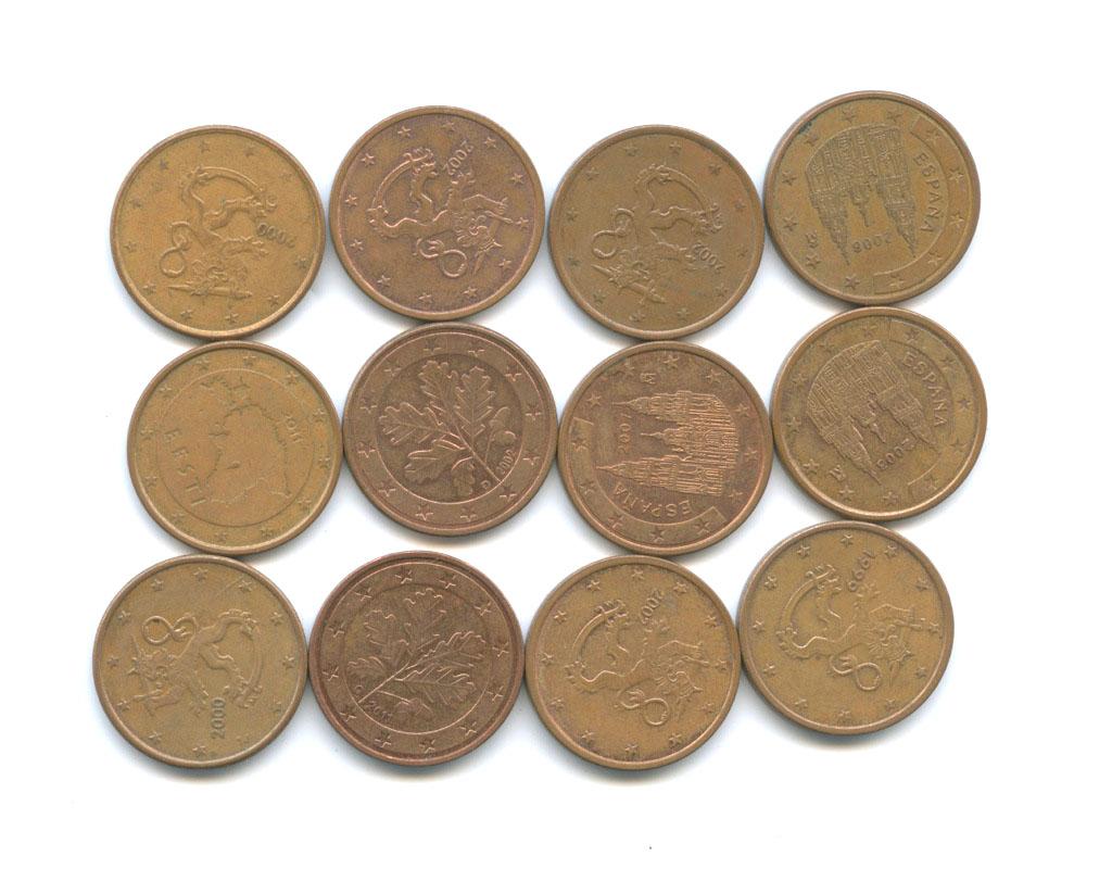Набор монет 5 центов (разные страны)