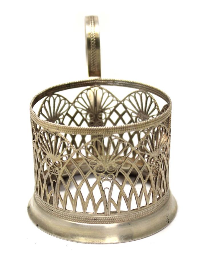 Подстаканник (серебрение, клейма, скань) (СССР)