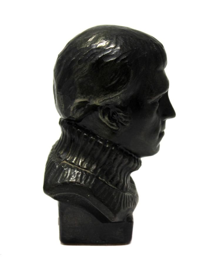 Бюст «В. Высоцкий» (силумин, клеймо «СВ», завод «Сувенир», тяжелый, 13 см) (СССР)