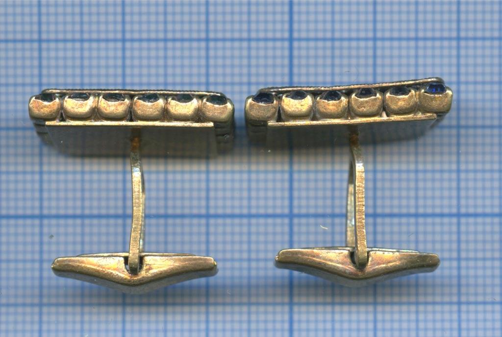 Запонки (латунь, камни)