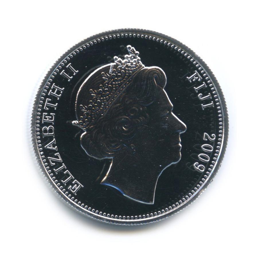 1 доллар — Великие животные мира - Панда (цветная эмаль) 2009 года (Фиджи)