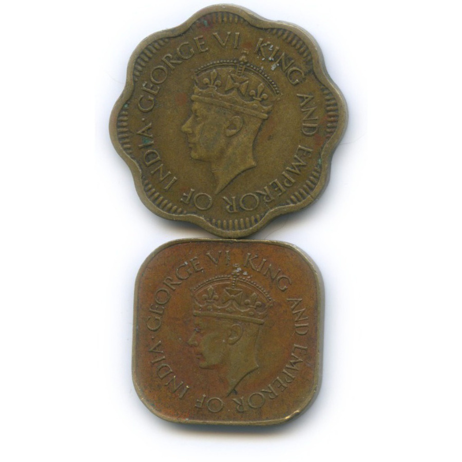 Набор монет, Цейлон 1942, 1944