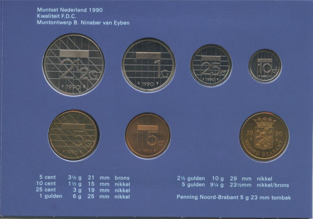 Набор монет (вальбоме) 1990 года (Нидерланды)