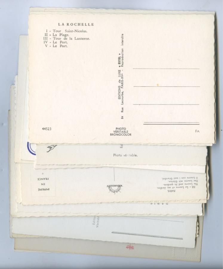 Набор открытых писем «Франция» (35 шт., разные страны)
