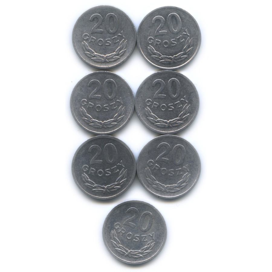 Набор монет 20 грошей (Польша)