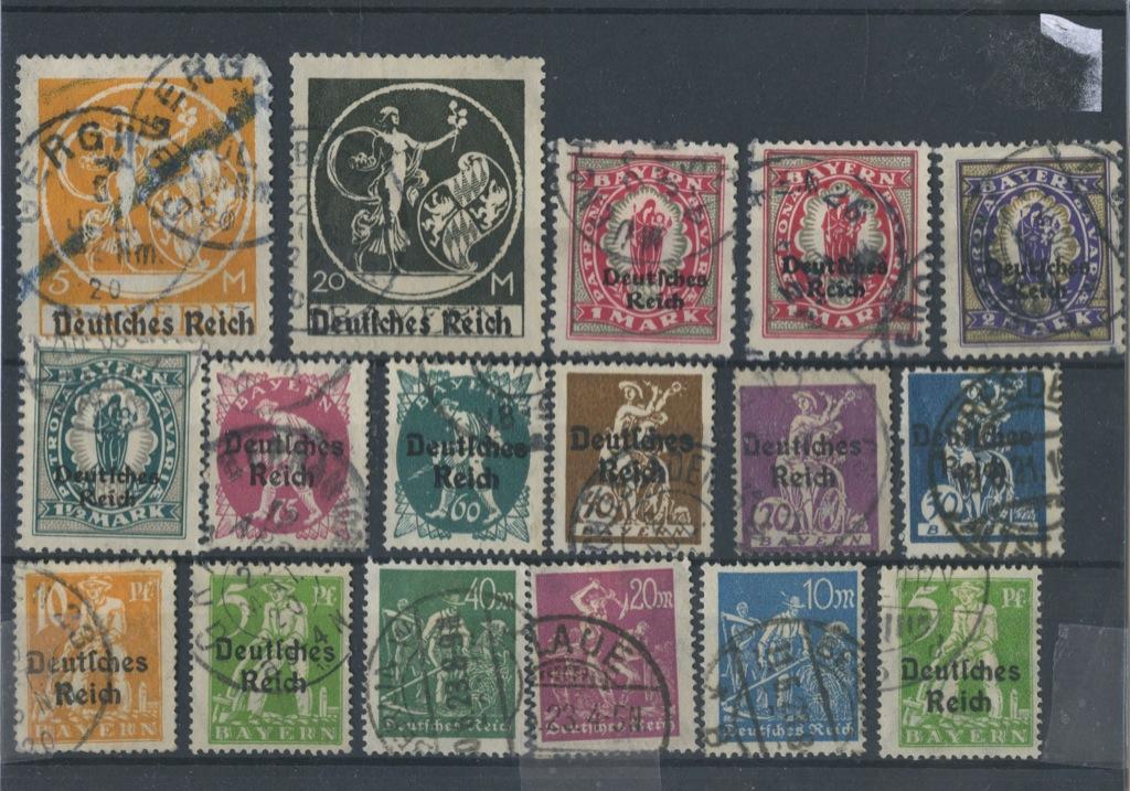 Набор почтовых марок 1920 года (Германия)