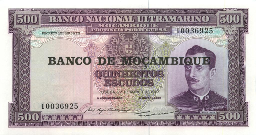 500 эскудо (Мозамбик) 1967 года