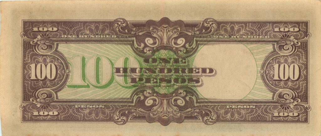 100 песо, оккупация (Япония)