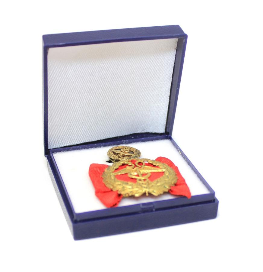 Медаль «За30 лет выслуги» сфрачником (вфутляре) (Финляндия)