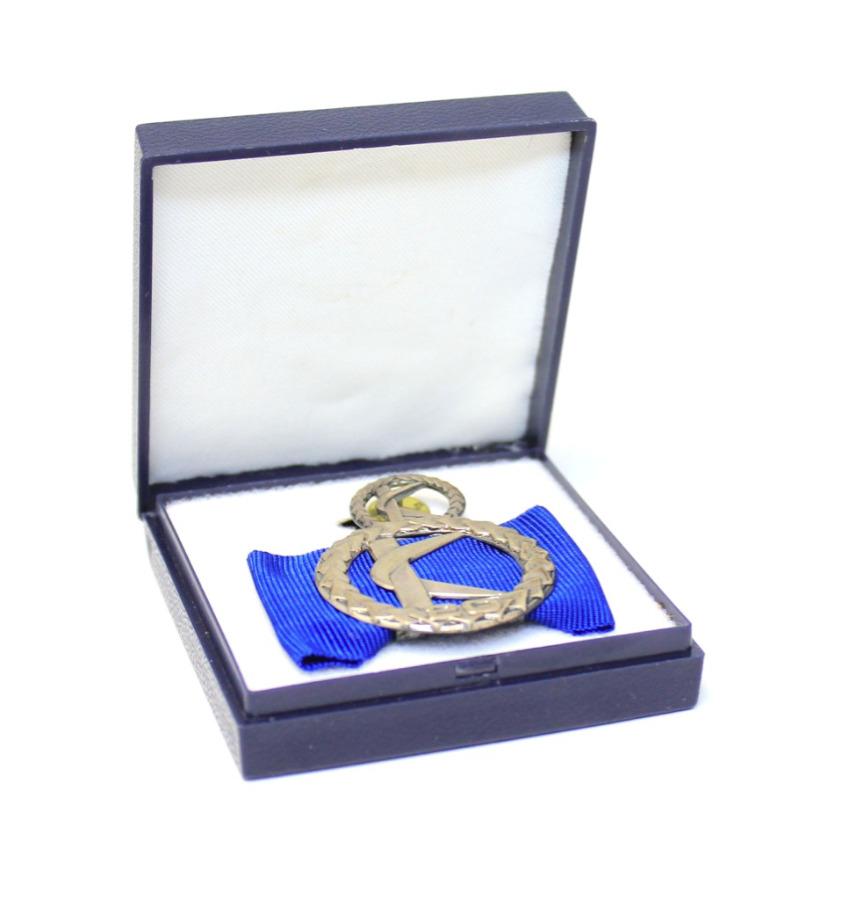 Медаль «За20 лет выслуги» сфрачником (вфутляре) (Финляндия)