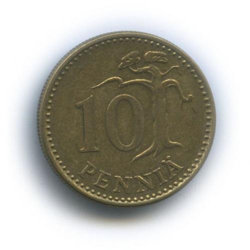 10 пенни 1977 года (Финляндия)