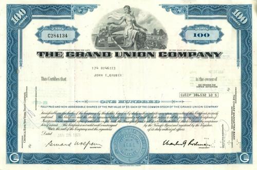 100 акций «The Grand Union Company» 1971 года (США)