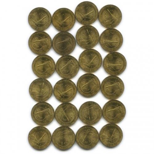 Набор монет 10 рублей — 50 лет первого полета человека вкосмос (без обращения) 2011 года (Россия)