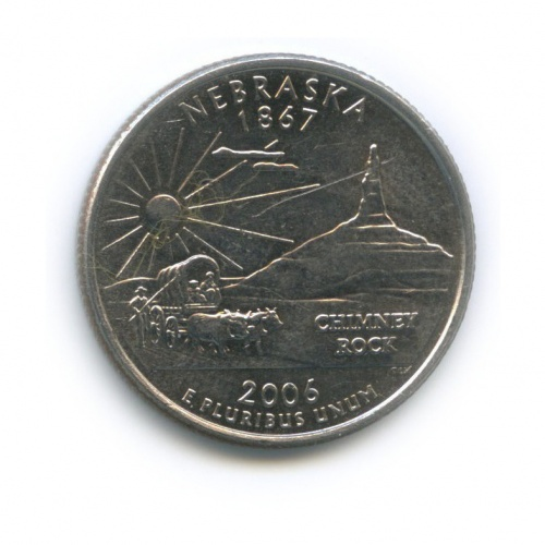 25 центов (квотер) — Квотер штата Небраска 2006 года D (США)