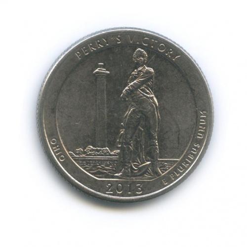 25 центов (квотер) — Победа Перри иМеждународный мемориал мира 2013 года D (США)