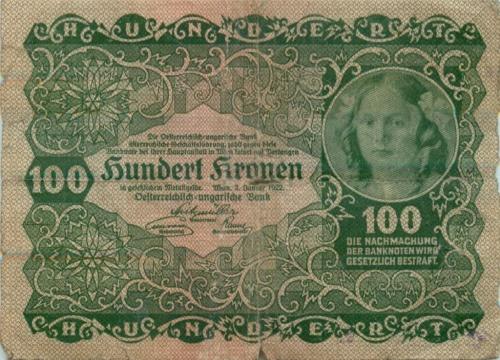100 крон 1922 года (Австрия)