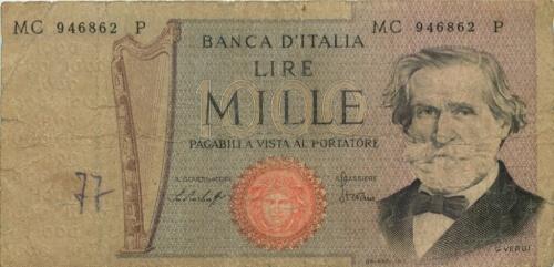 1000 лир 1969 года (Италия)