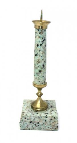 Подсвечник (18 см, камень, бронза)