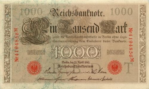 1000 рублей 1910 года (Российская Империя)