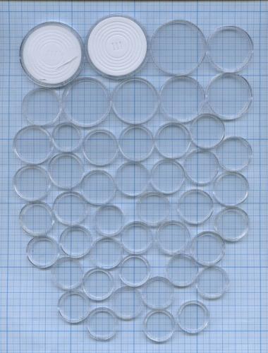 Набор капсул для монет (разные диаметры, 46 шт.)
