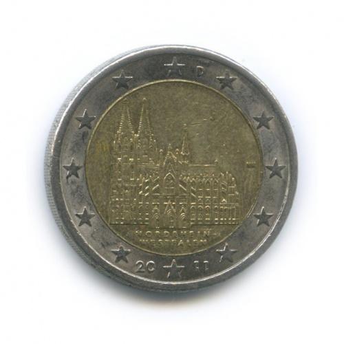 2 евро — Федеральные земли Германии - Кёльнский собор, Северный Рейн — Вестфалия 2011 года J (Германия)