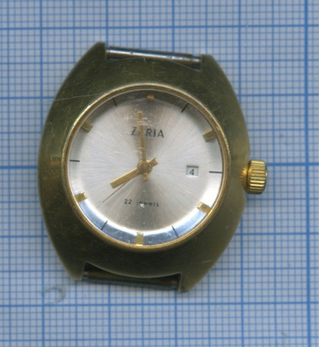 Часы «Zaria» (позолоченные, нерабочие) (СССР)