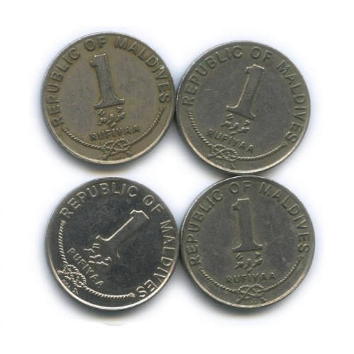 Набор монет 1 руфия, Мальдивы 1990 года