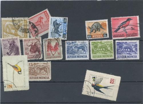 Набор почтовых марок «Животные» (разные страны, 1960-1970 гг.)
