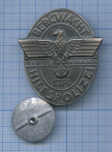 Знак «Bergwacht-Hilfspolizei» (копия) (Германия (Третий рейх))