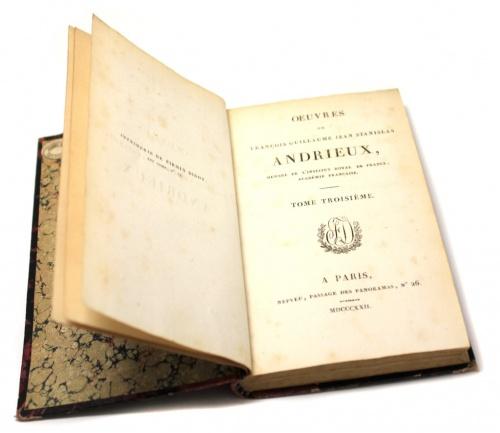 Книга «Oeuvres deFrançois Guillaume Jean Stanislas Andrieux», Париж, 375 стр. 1822 года (Франция)