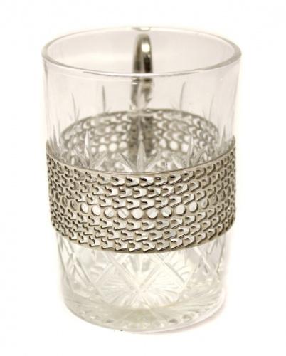 Подстаканник схрустальным стаканом (Европа, 10 см)