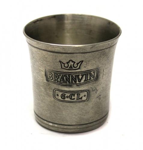 Стопка «Brännvin» (клейма, 5 см) (Швеция)