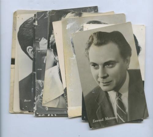 Набор открыток «Артисты кино» (15 шт., СССР, Германия)