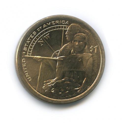 1 доллар - Помощь индейцев экспедиции Льюиса и Кларка 2014 года (США)