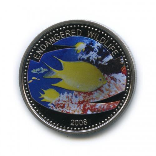 1 доллар - Под угрозой исчезновения, Палау (серебрение, цветная эмаль) 2008 года