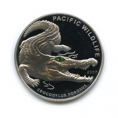 5 долларов - Тихоокеанский дикий мир - Крокодил, Республика Палау 2007 года