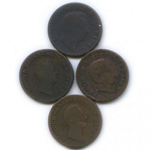 Набор монет 1 крейцер, Баден