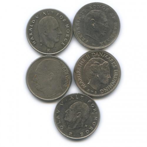 Набор монет 1 крона (Дания, Норвегия)